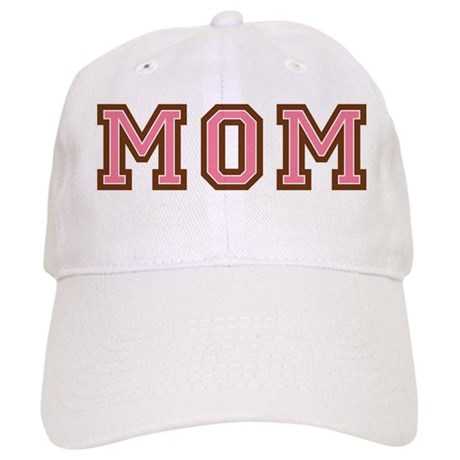 Collegiate Text Mom Pink Brown Cap