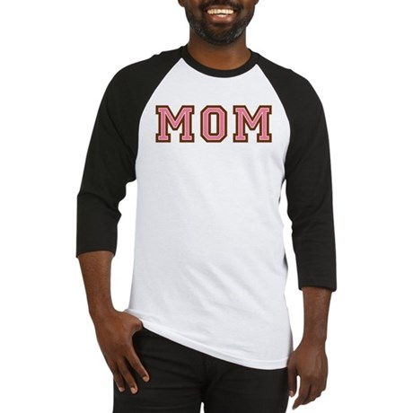 Collegiate Text Mom Pink Brown Baseball Jersey