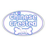 Powderpuff Chinese Crested Oval Decal