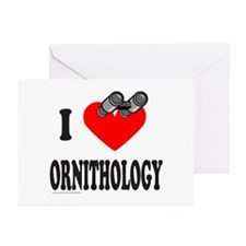 I HEART ORNITHOLOGY Greeting Cards (Pk of 10)