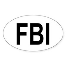 FBI Oval Bumper Stickers