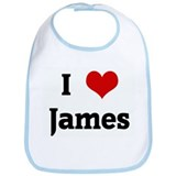 I Love James Bib