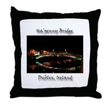 HA'PENNY BRIDGE OVER THE LIFFEY Throw Pillow