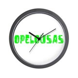 Opelousas Faded (Green) Wall Clock