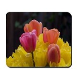 Funny Pink flowers Mousepad