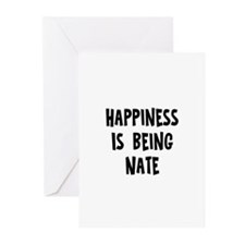 Happiness is being Nate Greeting Cards (Pk of 10)