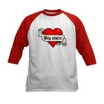 Big Sister Tattoo Heart Kids Baseball Jersey