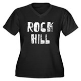 Rock Hill Faded (Silver) Women's Plus Size V-Neck