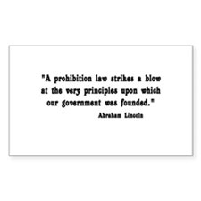 Prohibition Rectangle Decal