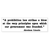 Prohibition Bumper Bumper Sticker
