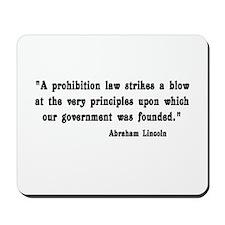 Prohibition Mousepad