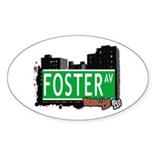 FOSTER AV, BROOKLYN, NYC Oval Decal