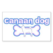 Powderpuff Canaan Dog Rectangle Decal