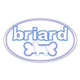 Powderpuff Briard Oval Decal