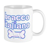 Powderpuff Bracco Italiano Small Mugs