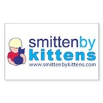 Smitten By Kittens Rectangle Sticker 50 pk)