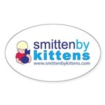 Smitten By Kittens Oval Sticker (10 pk)