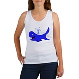 Big Blue Whale Women's Tank Top