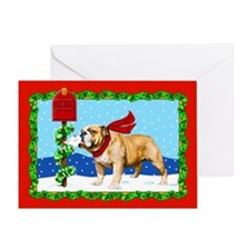 Christmas Bulldog Mail Greeting Card