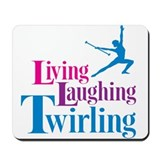 Living Laughing Twirling Mousepad