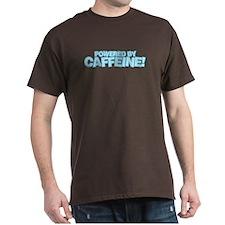 Powered by caffeine blue T-Shirt