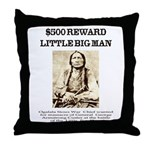 Little Big Man Wanted Throw Pillow