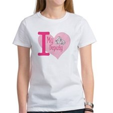 I love my deputy - pink hear Tee