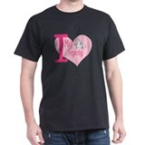 I love my deputy - pink hear T-Shirt