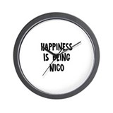 Happiness is being Nico Wall Clock