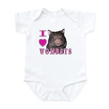 I Love ( Heart ) Wombats Infant Bodysuit