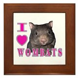I Love ( Heart ) Wombats Framed Tile