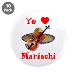 "Yo Amo Mariachi 3.5"" Button (10 pack)"