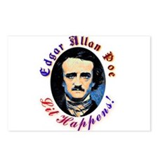 Edgar Allen Poe - Lit Happens Postcards (Package o