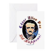 Edgar Allen Poe - Lit Happens Greeting Cards (Pk o