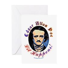 Edgar Allen Poe - Lit Happens Greeting Card