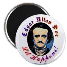 Edgar Allen Poe - Lit Happens Magnet Magnets