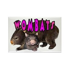 2 Wombats Rectangle Magnet