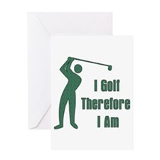 Gift for Golfing Dad Greeting Card