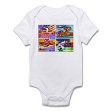 Cute Olympic swimming Infant Bodysuit