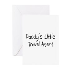 Daddy's Little Travel Agent Greeting Cards (Pk of