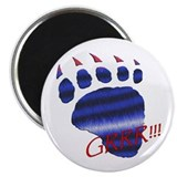 GRRR!/FURRY LEATHER PRIDE BEAR PAW Magnet
