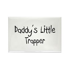Daddy's Little Trapper Rectangle Magnet