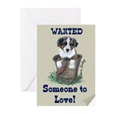 Cute Australian shepherds Greeting Cards (Pk of 20)