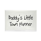 Daddy's Little Town Planner Rectangle Magnet (10 p