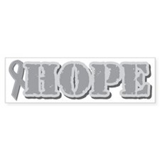 Silver Hope Ribbon Bumper Sticker (10 pk)