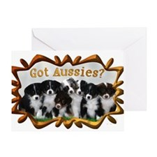 Cool Australian shepherds Greeting Card