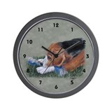 Beagle Down Wall Clock