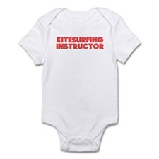 Retro Kitesurfing.. (Red) Infant Bodysuit