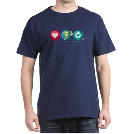 Love, Protect, Recycle Dark T-Shirt