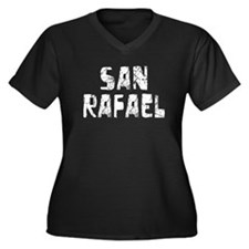 San Rafael Faded (Silver) Women's Plus Size V-Neck